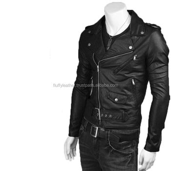 New Look 2017 Men Fashion Leather Jacket Black Fl 2228 Buy Mens