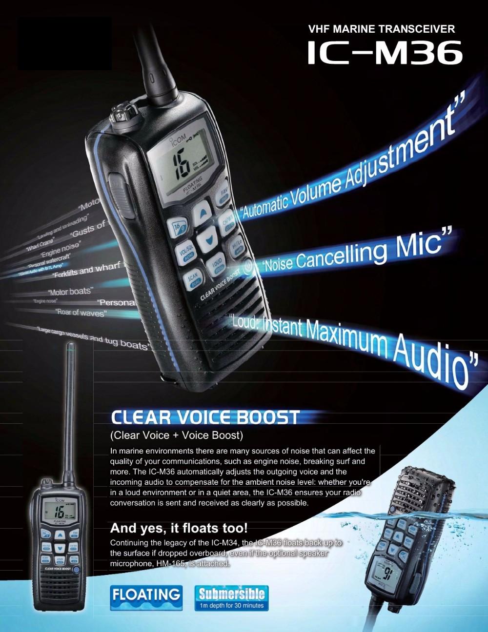 IC-M36 VHF Marine Handheld Radio