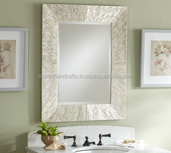 Bone Horn Wood And Mother Of Pearl Mirror Frame Latest Design Manufacturing India 2017