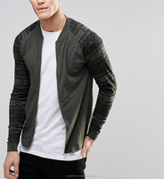 Men's Bomber Jacket with printed sleeves