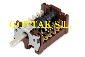 GOTTAK (soken substitute) 7 position oven rotary switch T +200 brown