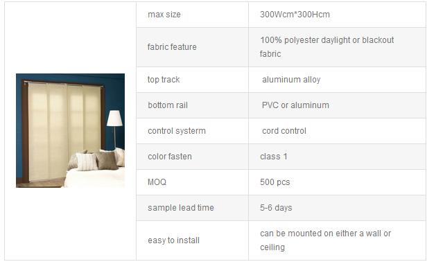 nuevos productos calientes slider panel cortinas para puerta corredera de cristal