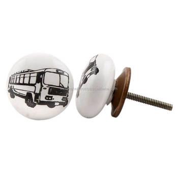 Bus Platte Wit Zwart Decoratieve Knoppenknoppen En Handgrepen Voor Ladeskast Knoppen Groothandelhandgemaakte Knoppen Cvk 05 Buy Deur Trek