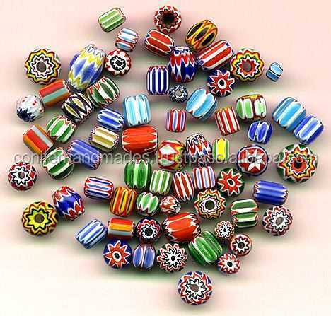 multi coloured glass chevron beads in assorted colours and patterns suitable for jewellery designers and bead stores