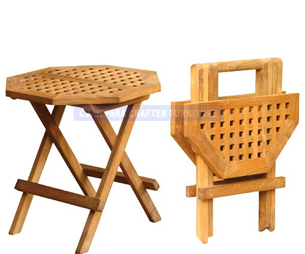 Teca Solido Madera Octogonal Picnic Mesa Plegable Pequena Buy