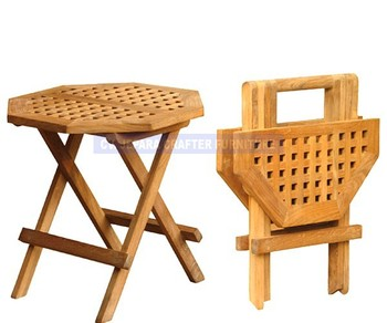 Teak Outdoor Solid Octagonal Wood Picnic Folding Table Small Buy - Solid teak outdoor table