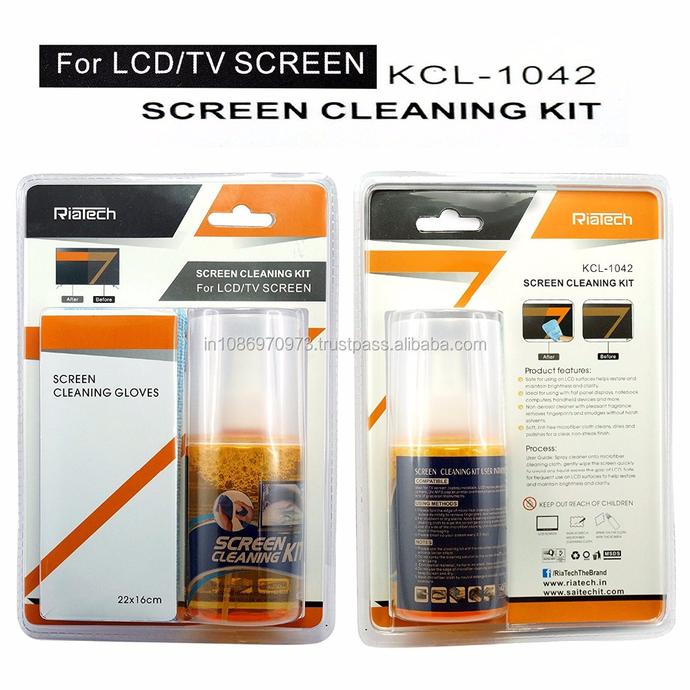 Wholesale RiaTech Screen Cleaner Kit - Best for LED & LCD TV, Computer Monitor, Laptop, and iPad Screens - KCL 1042