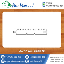 Weather Resistant SAUNA Solid Wood Profile Cladding Boards