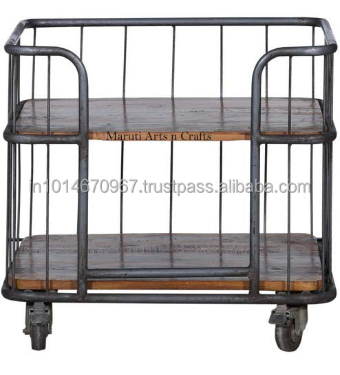 Vintage Bar Trolly Cabinet Industrial Furnitture