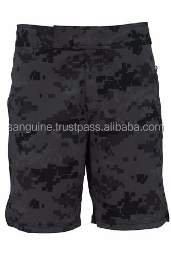 Men Digital Camo Short Gray, 4-way Stretch