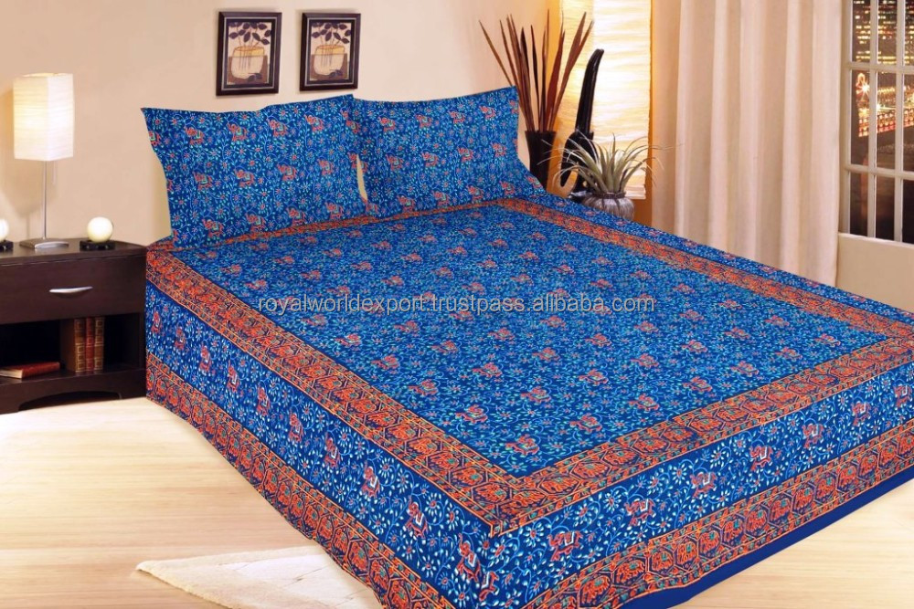 Indian Elephant Print 100% Silk Sari Bedding Queen Set Wholesale Plain  White Hotel Bedsheet,Hotel Bed Cover   Buy 100% Cotton Pigment Print Fabric  For ...