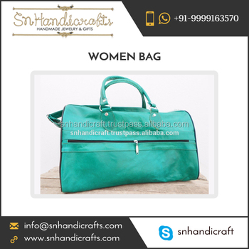 3ba8eda332 Exotic Look Leather Duffle Bag Available In Bold Colours - Buy ...