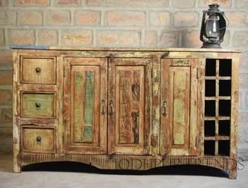 Mobili Legno Recuperato : Mobili in legno di recupero made in india riciclare legno porte