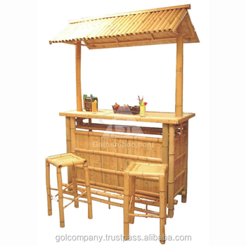 Grosshandel Bamboo Tiki Bar Bambus Bar Bambo Pavillon Bambus
