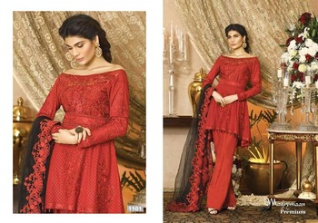 a76636def9d designer anarkali party wear frock style umbrella cut suits with plazo style