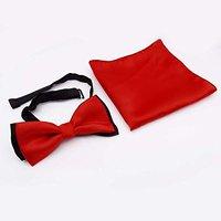 Men Bow Necktie Bowknot Adjustable Pocket Square Tuxedo Fashion Wear Bowtie MA32J