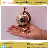 Golden Colour Fully Brass Small Miniature Globe for Gifting or Collectible Item