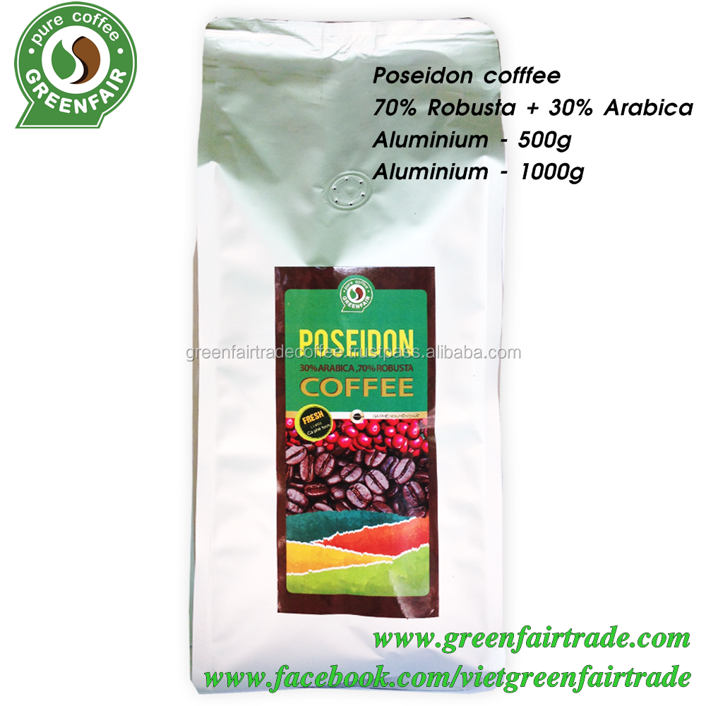 Poseidon 30% Arabica/70% Robusta With Fairtrade Certification ...