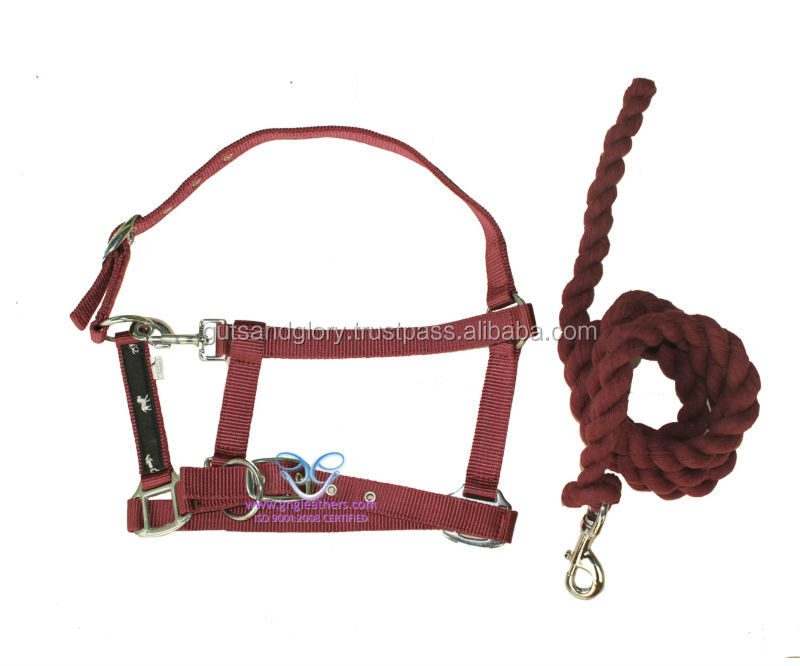 Nylon ribbon halter with cotton Lead