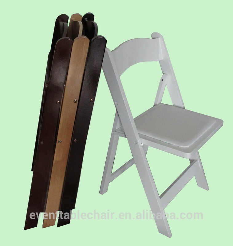 Wholesale high quality white wedding used padded wooden for Good quality folding chairs