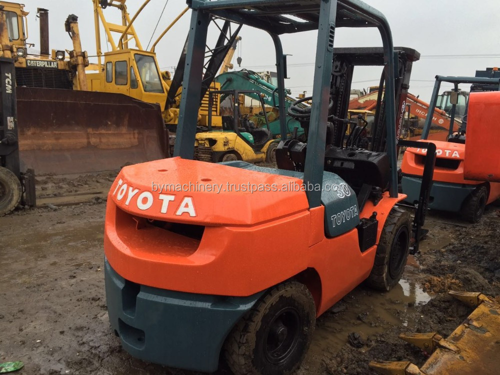 Original Used TOYOTA FD30 Forklift , toyota forklift FD30 almost new