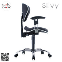 Task Chair, Secretary Office Chair with Adjustable Armrest, Office Furniture Malaysia