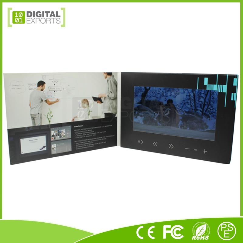 New video digital catalogue, 10'' lcd video brochure, lcd video card