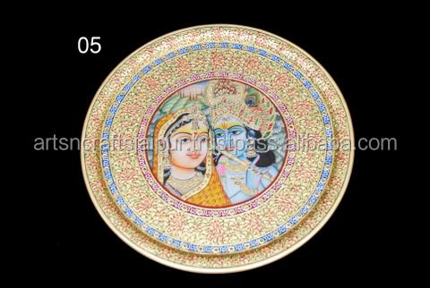 Decorative Meenakari Asian Art Lord Radha Krishna Painting On ...