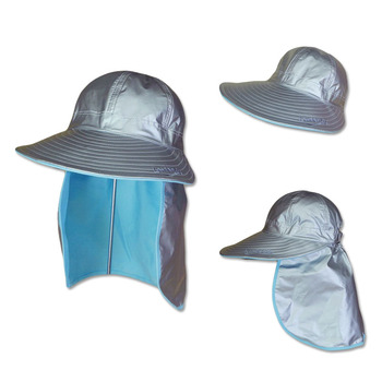 513299117ae97 Summer Outdoor Sun UV Protection Cap Removable Neck Flap Cover Fishing  Camping Waterproof Hat