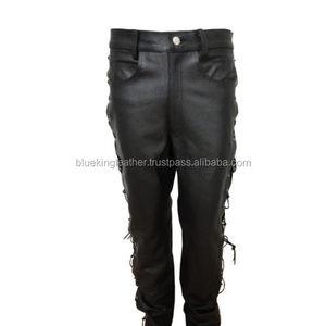 ea416b2cd632 Side Lace Leather Pants Men, Side Lace Leather Pants Men Suppliers and  Manufacturers at Alibaba.com