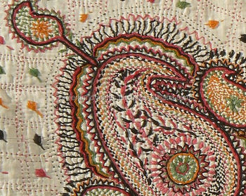 handmade textiles with kantha embroidery for home stores and interior designers in custom made sizes