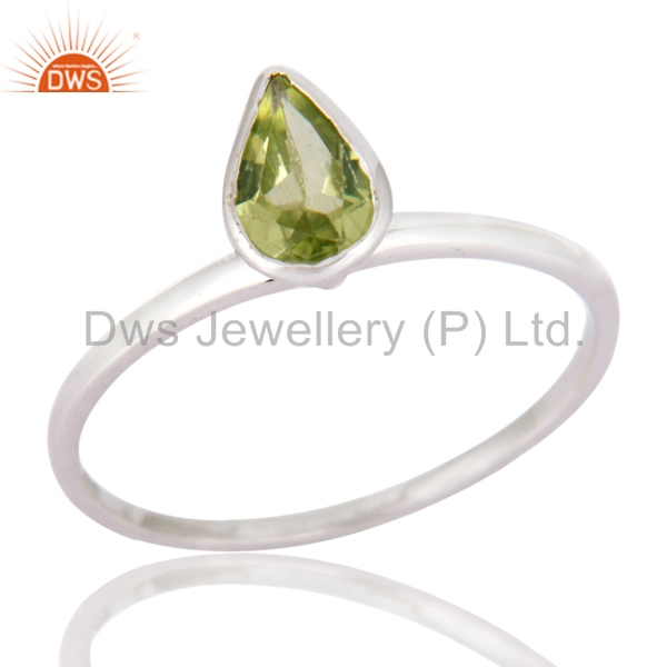 925 Silver Plated Solid Gold Ring Peridot Gemstone Designer Ring Manufacturer Women Gold Jewelry