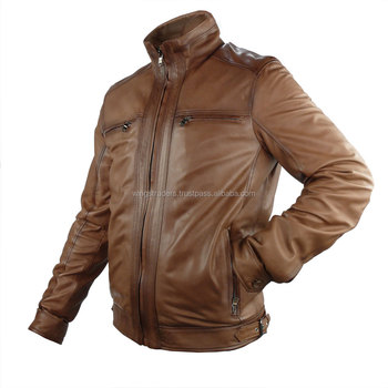 Oem All Season Wax Color Pure Soft Leather Jacket For Men Made In