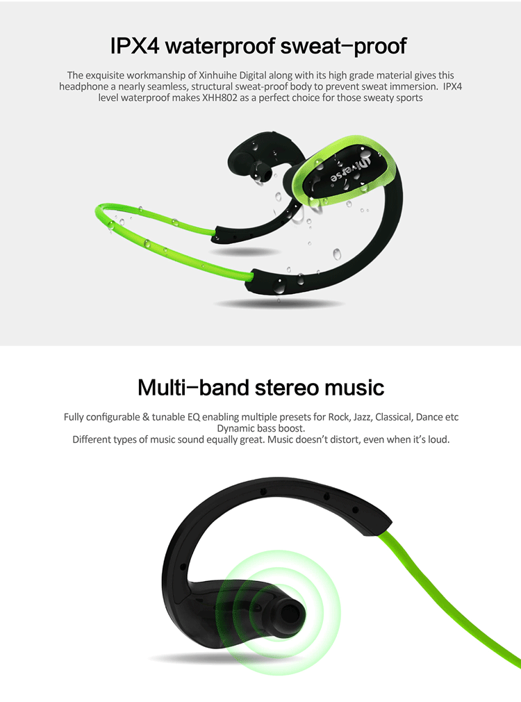2017 individual mold CSR8635 stereo sport bluetooth headset