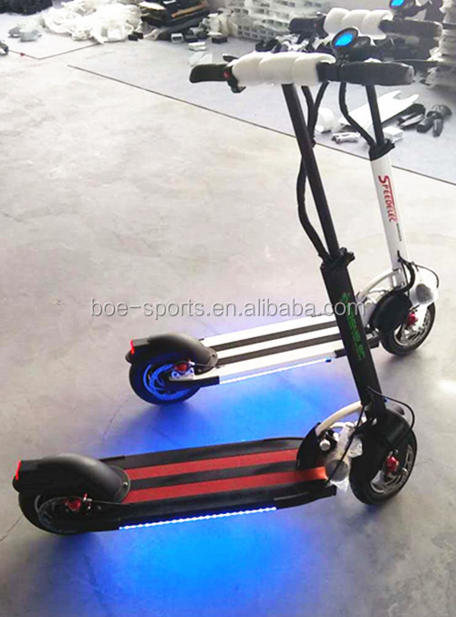 10 inch tires mini speedway 2 500w brushless 48v lithium light electric folding 2 double seat mobility scooter