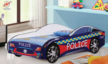 Children Furniture Police Car Bed Racing