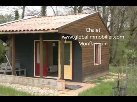 Wooden bungalow with chalet and mobil home; perfect for lovely holidays in South West France