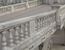 popular architectural design white marble balustrade