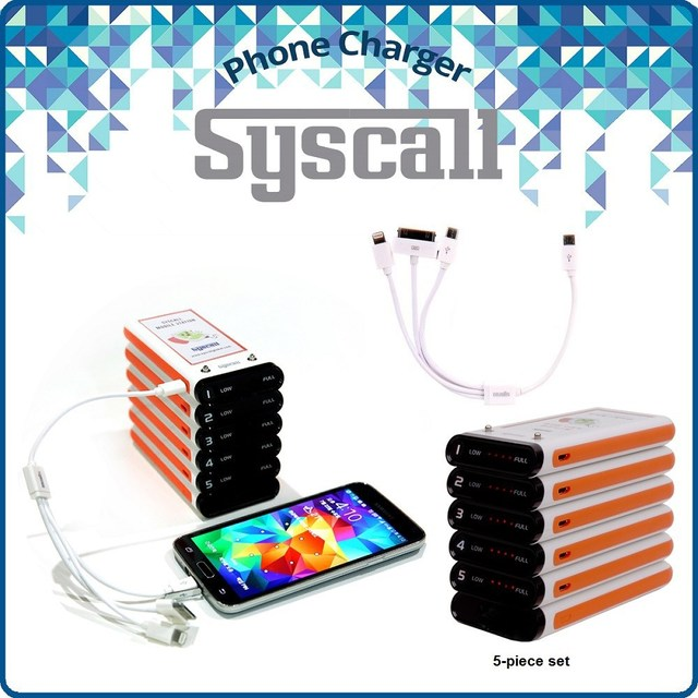Syscall Portable mobile Phone Charger power bank and workable with Apple, Samsung, and any smartphone