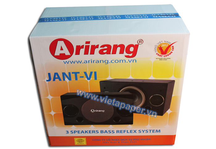 Arirang JANT-VI speaker carton packaging