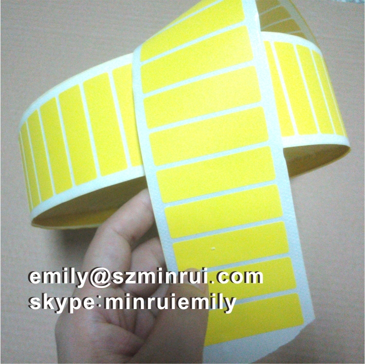 Custom Blank Round Eggshell Sticker Rolls Blank Round