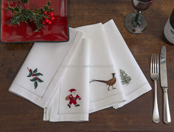 Christmas Napkins.Hand Embroidered Christmas Napkins No 1 Buy Hand Embroidered Napkins Linen Napkins Cotton Napkins Product On Alibaba Com