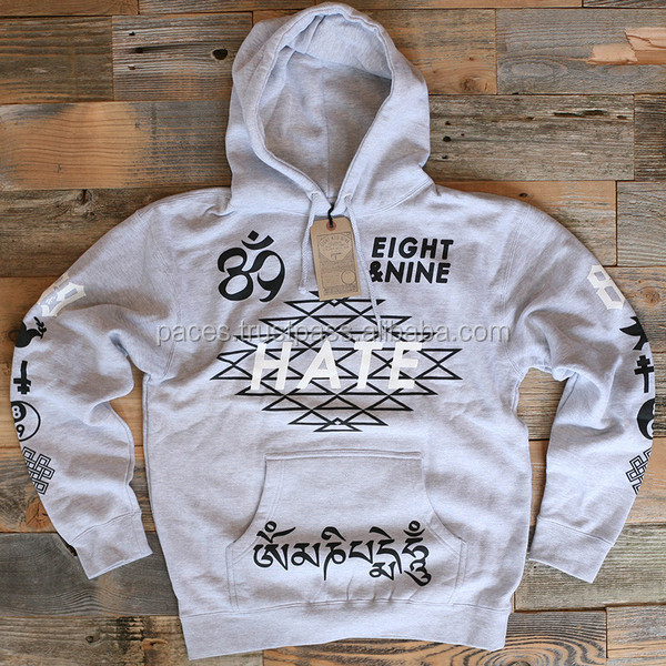 Cheap good quality custom hoodies wholesale 100% cotton plain white pullover hoodies mens fleece hoodies from PACE SPORTS!