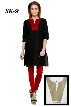 Black Latest Kurti Designs For Girls And Ladies