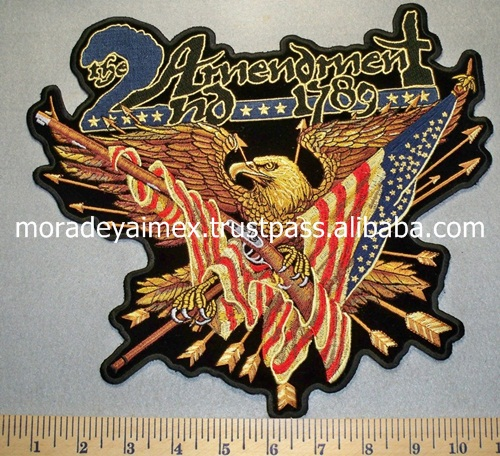 Protection Eagle Custom Embroidery Patches Bird 3D Customized Embroidery patches National Embroidery Patches