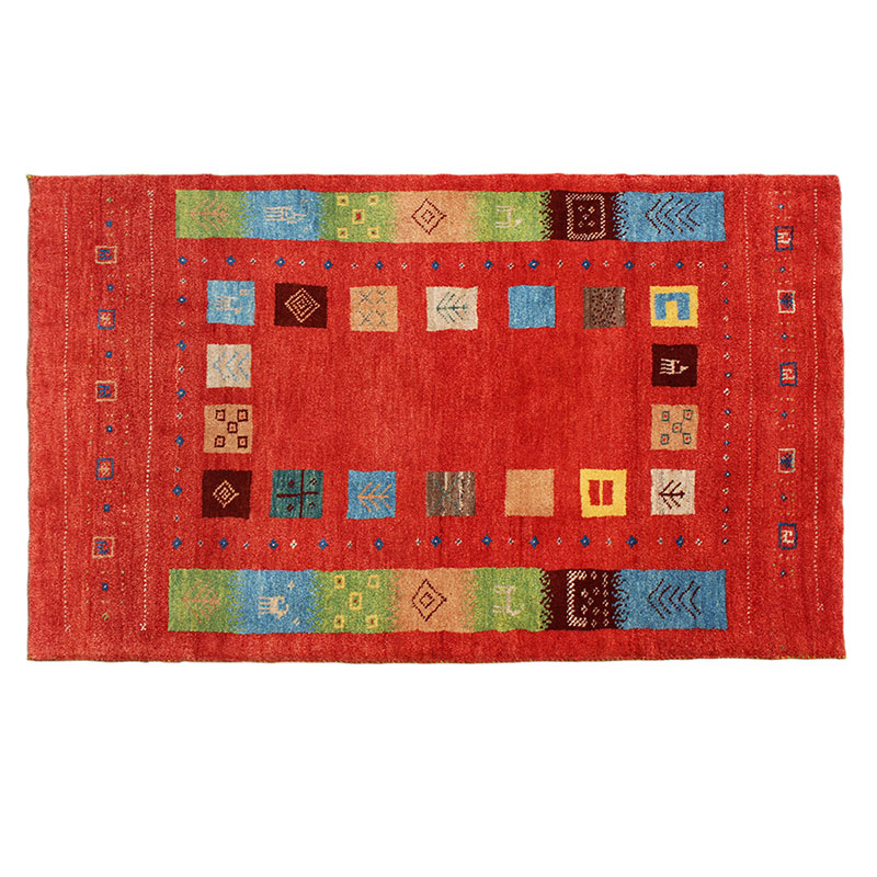 Wool Hand Knotted Gabbeh Area Rug, Persian Rug for Sale, Oriental Traditioal design Floor Rug