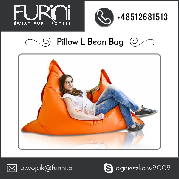 Large Pillow Bean Bag for Indoor / Outdoor Use