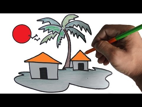 get quotations how to draw a scenery for children step by step - Drawing For Small Children