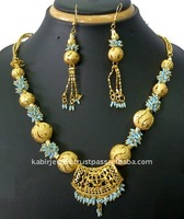 antique unique fashion cheap indian gold engagement handmade beaded jewelry