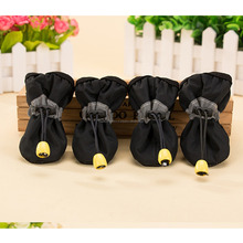 Footwear Waterproof Rain Boots Pet Products Dog Clothes Indoor Shoes Winter Warm Pet Thick Dog Shoes 4pcs/set